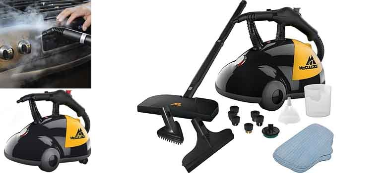 McCulloch MC1275 Heavy-Duty Steam Cleaner | Chemical-Free Steam Cleaner for Car