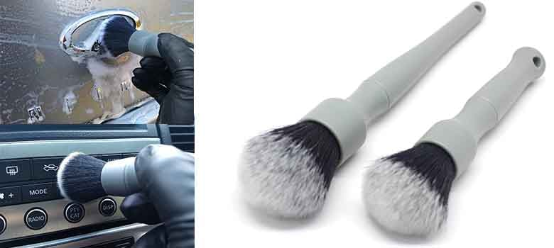 Detail Factory Ultra-Soft Detailing Brush Set | Small & Large Detailing Brush for Car Interior