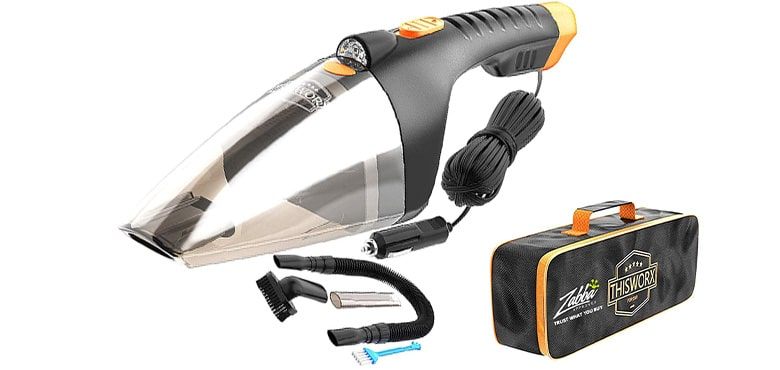 Best Car High Pressure Cleaning Tools - 110W 12v Corded auto Portable Vacuum Cleaner for Car Interior
