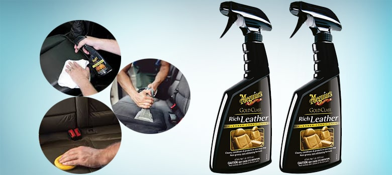Meguiar's G10916 Gold Class Rich Leather Cleaner & Conditioner
